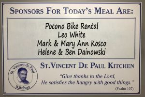 Saint Vincent de Paul Kitchen feeds over a thousand meals a week with the help of Pocono Bike Rental