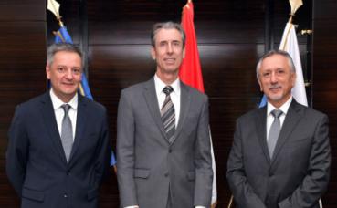 S.E.M. Gilbert Saboya, Gilles Tonelli, et S.E. M. Pasquale Valentini. Photo (c) Charly Gallo / DC