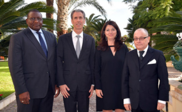 S.E.M. Bassirou Sene, Gilles Tonelli, Line Beauchamp, et S.E. M. Jorge Marcelo Faurie. Photo (c) Charly Gallo / DC