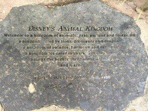 Animal Kingdom Dedication Stone