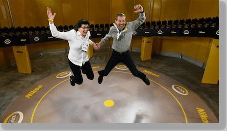 Steve & I jump for 96 Nikon DSLRs