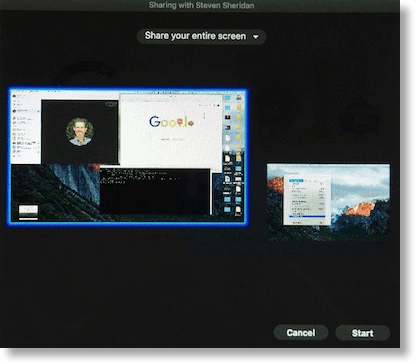 Skype share which screen