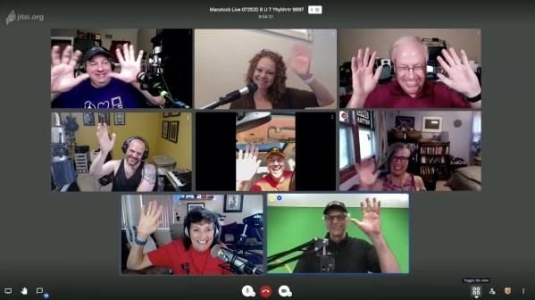Macstock Speakers in Jitsi Meet