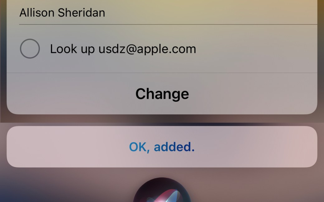 siri dictation successfully understanding Look up used@apple.com