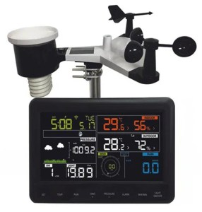 Home weather station with display panel