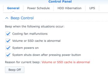 Beep Control panel
