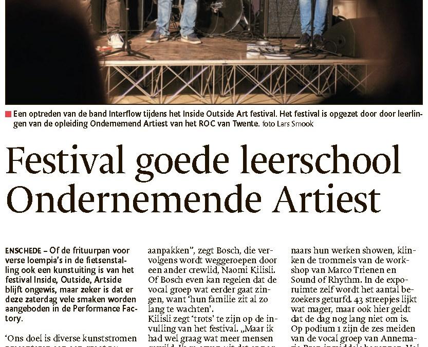Festival goede leerschool voor studenten