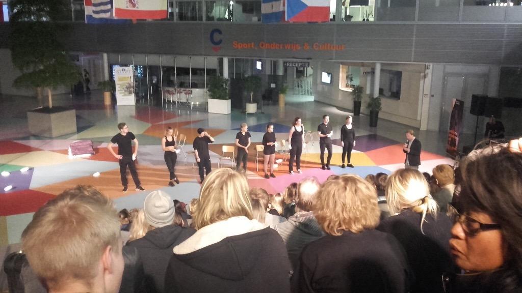 Eerste 'publieke' optreden 1e jaars studenten groot succes