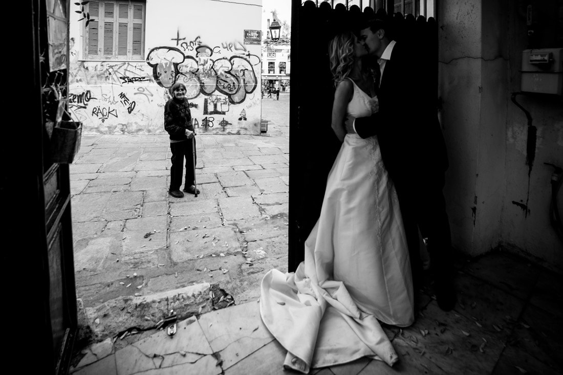 Hochzeitskuss Foto