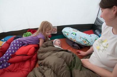 Pierwsza noc w namiocie