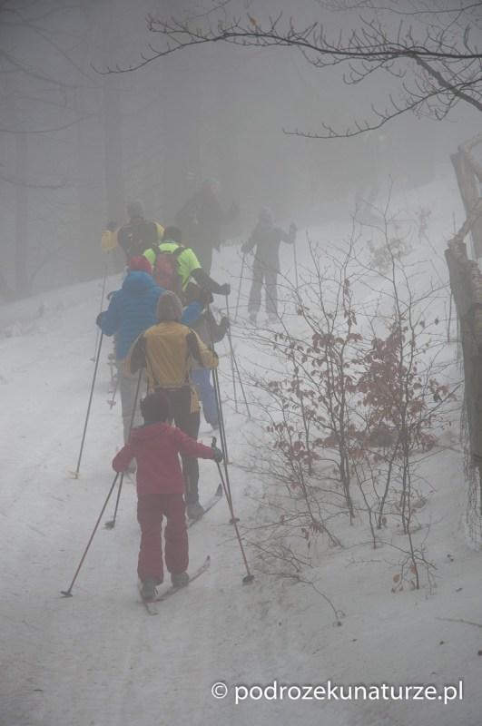Brniemy przez śniegi i przez mgłę