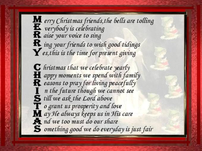 merry christmas acrostic poem examples christmaswalls co