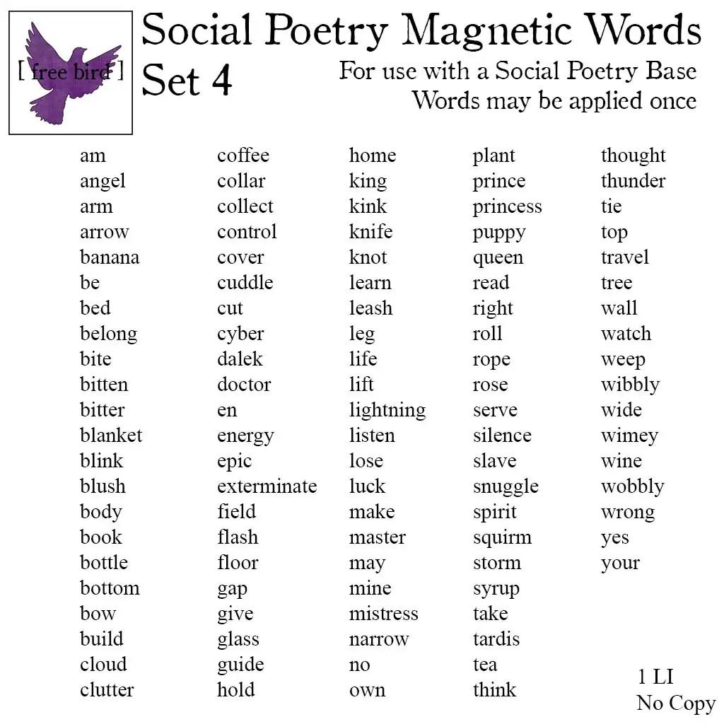 Poetry Vocabulary Worksheet