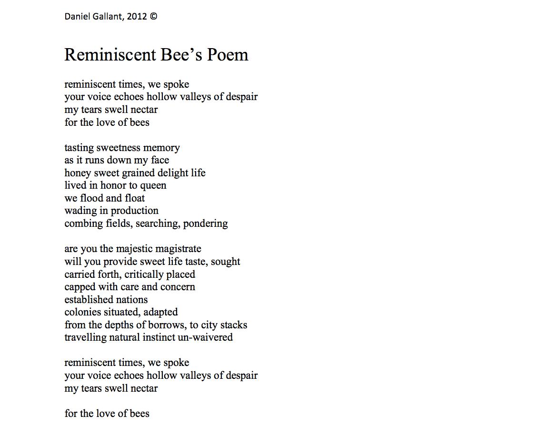 Bee Poems