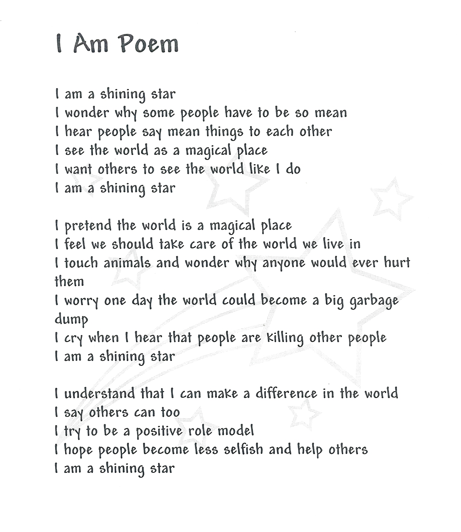 I Am Poems