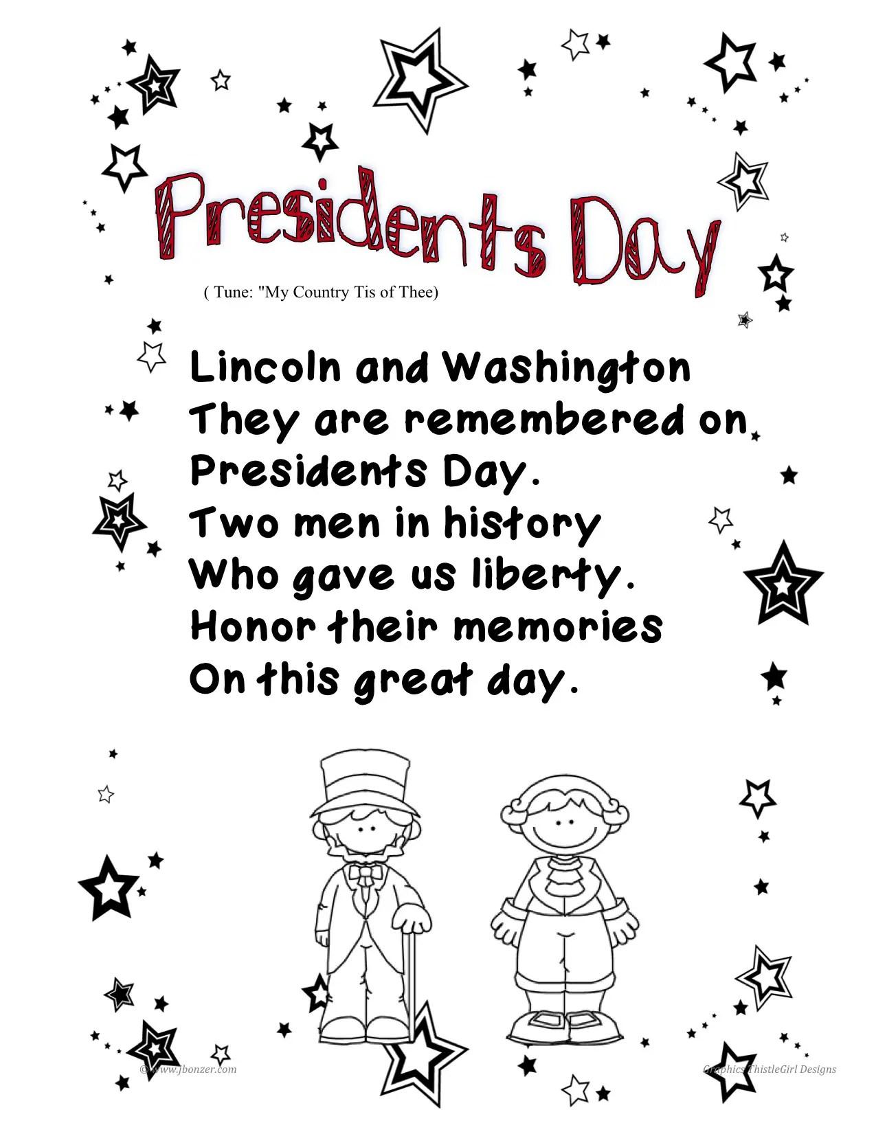 Presidents Day Poems