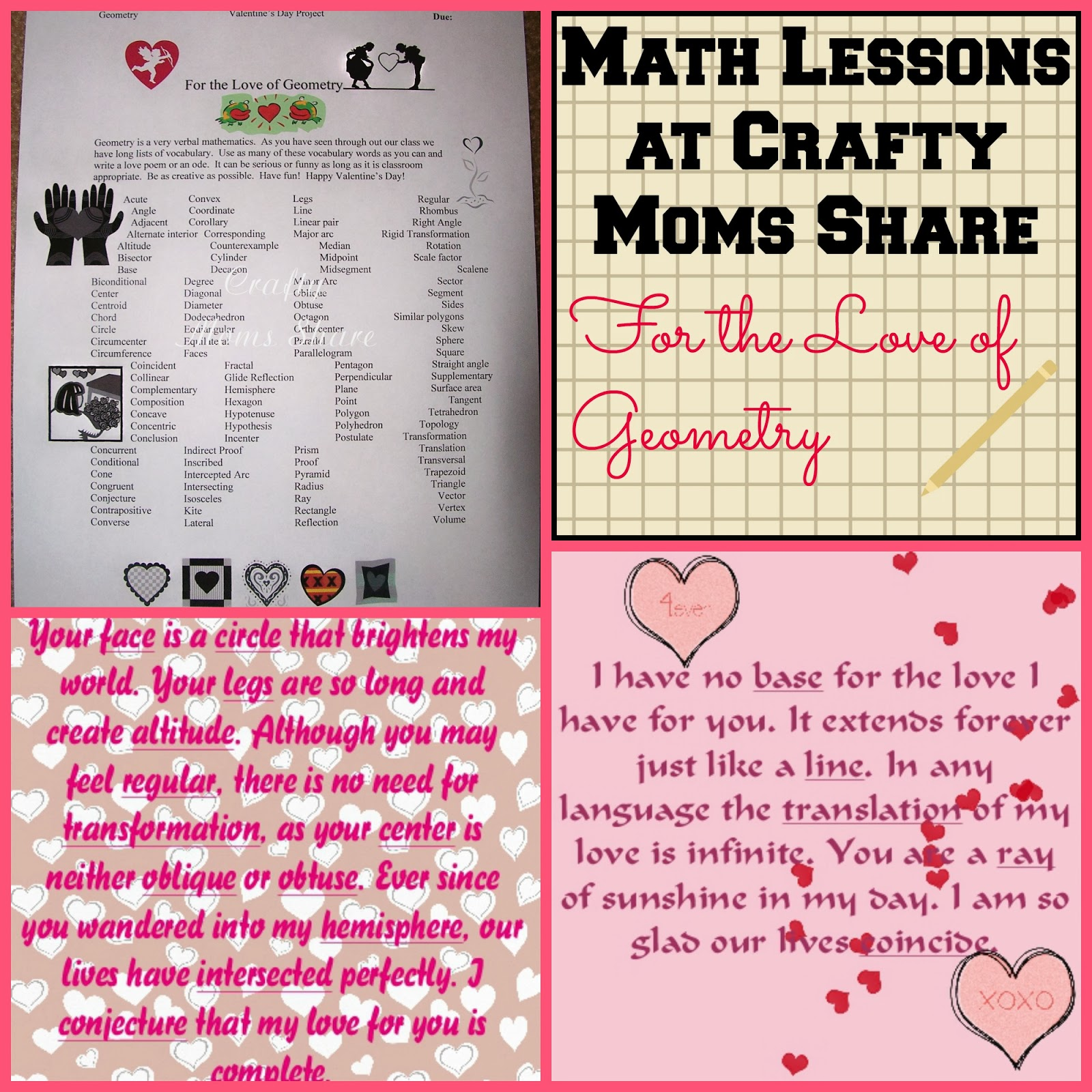 Math Valentine Poems