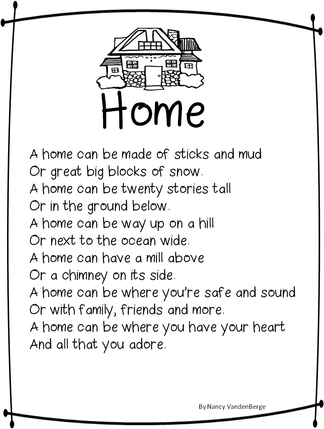 Homophone Worksheet Winter