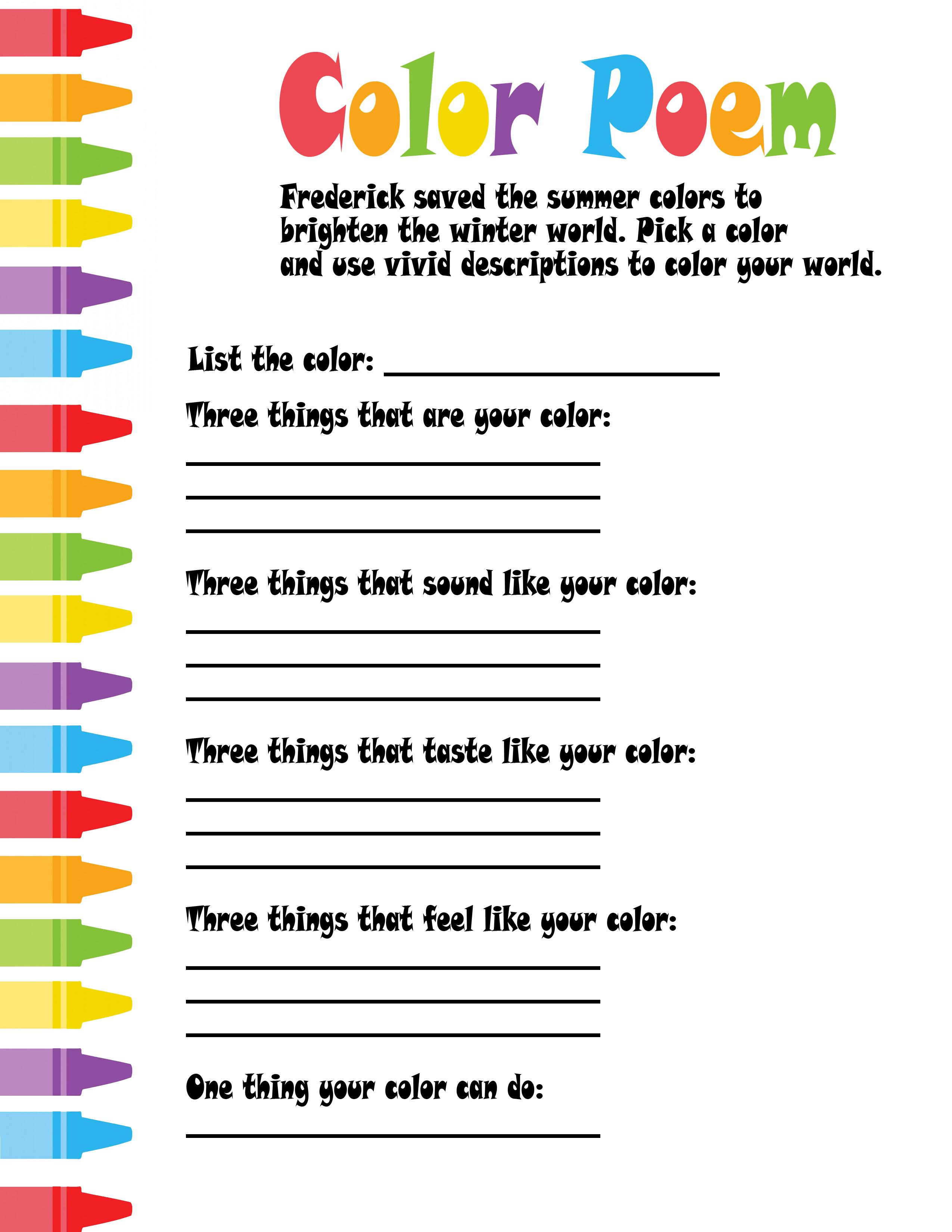 Colors Poems