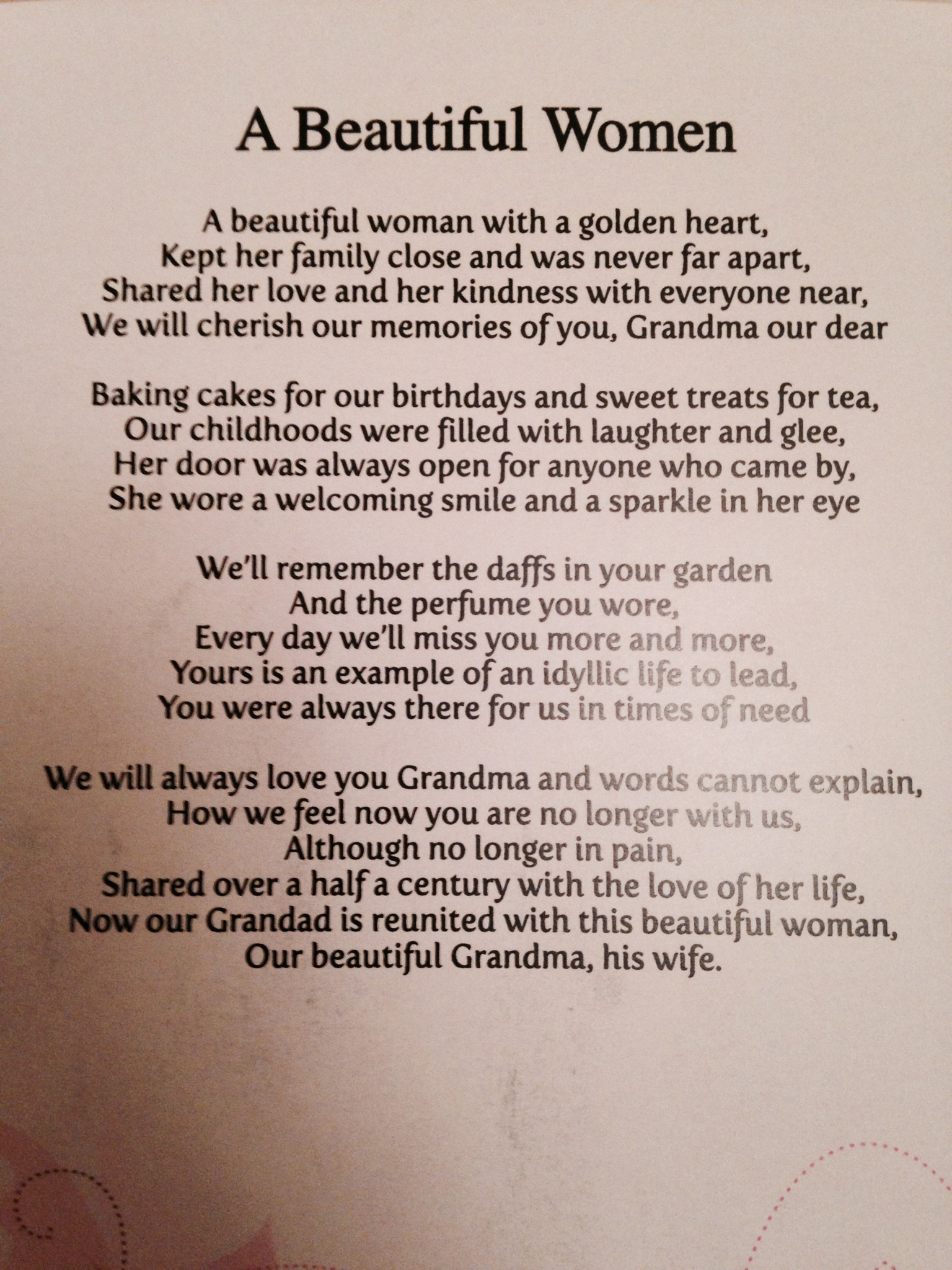 Goodbye Funeral Poems