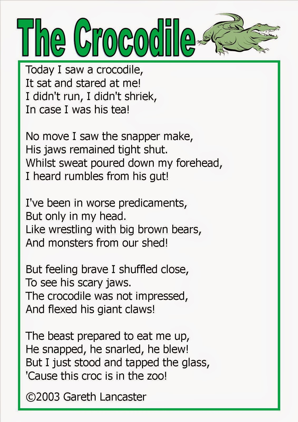 Alligator Poems