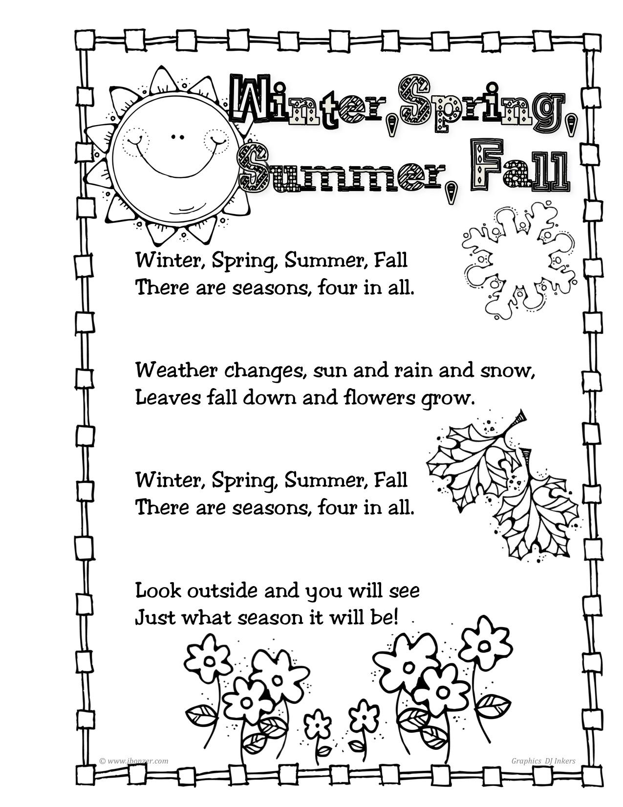 Seasons Poems