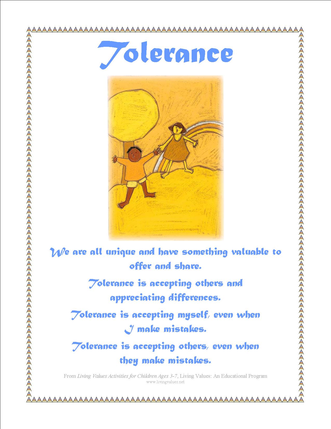 Tolerance Poems
