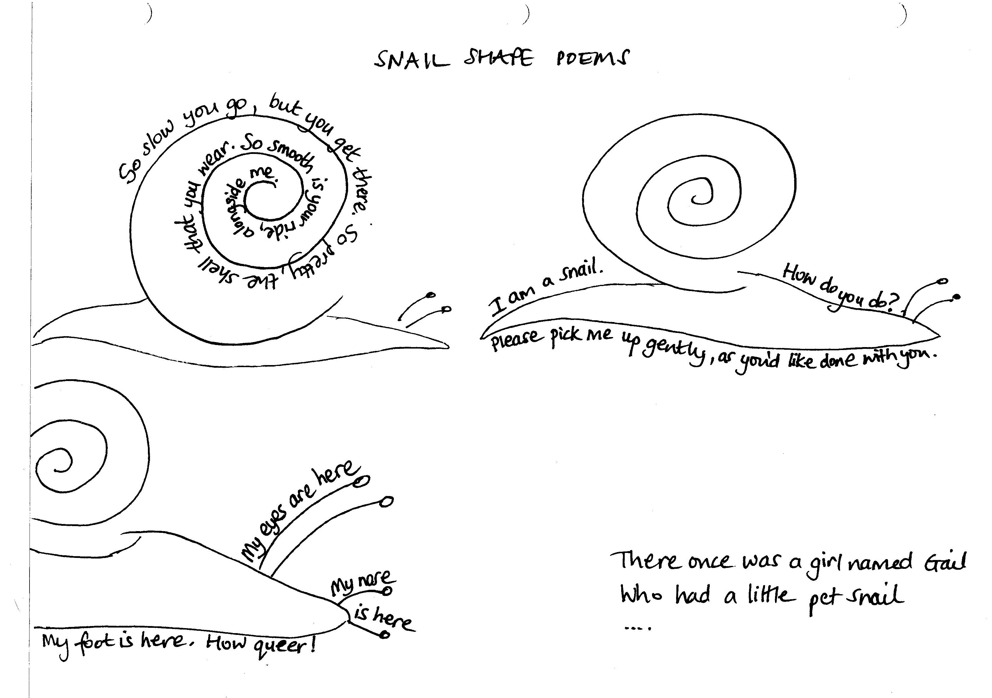 Snail Poems