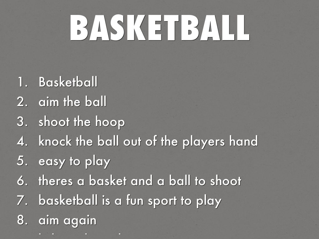 Basketball Acrostic Poems