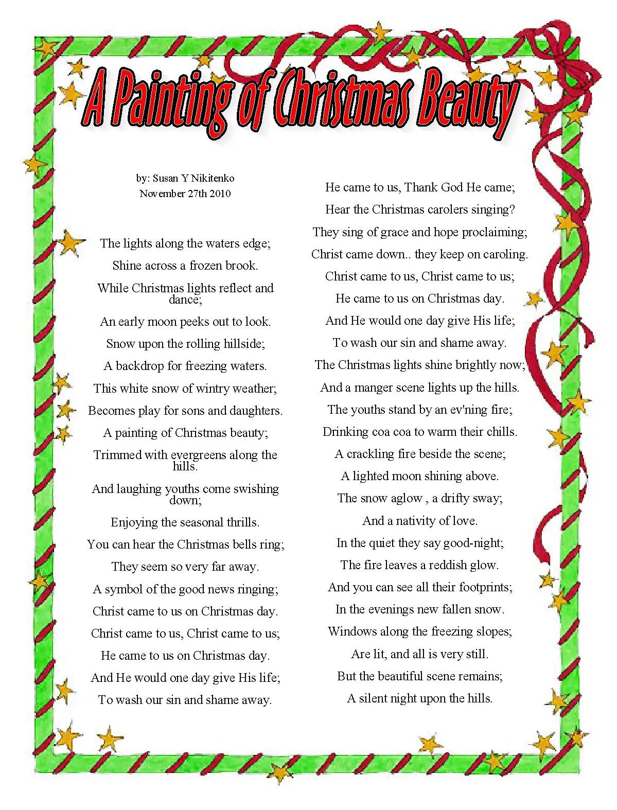 religious christmas poetry jpg 1199x1574 snowflake poems religious