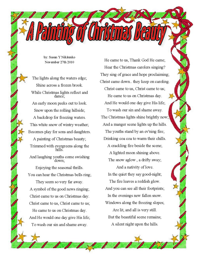 religious christmas poems - Religious Christmas Poems