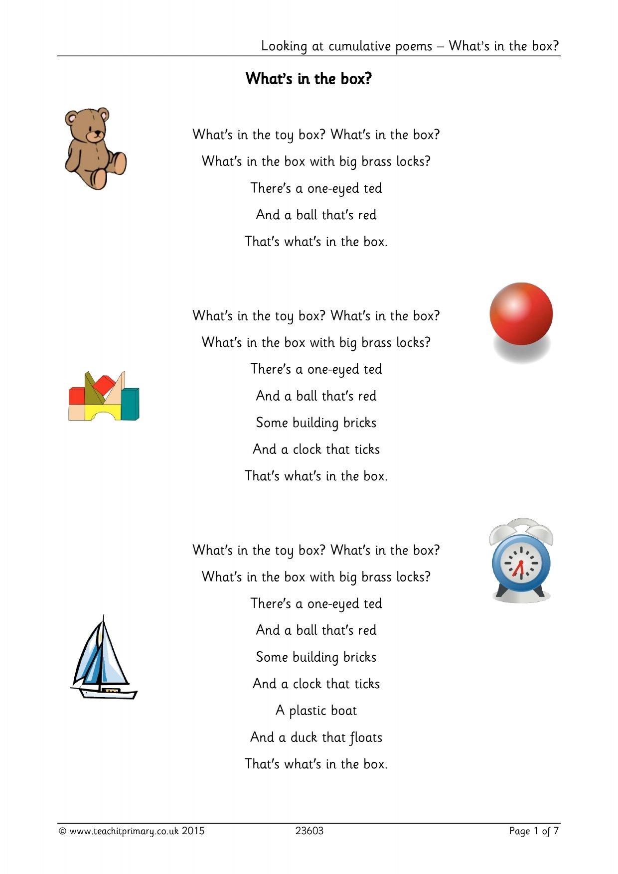 Ks2 Poems