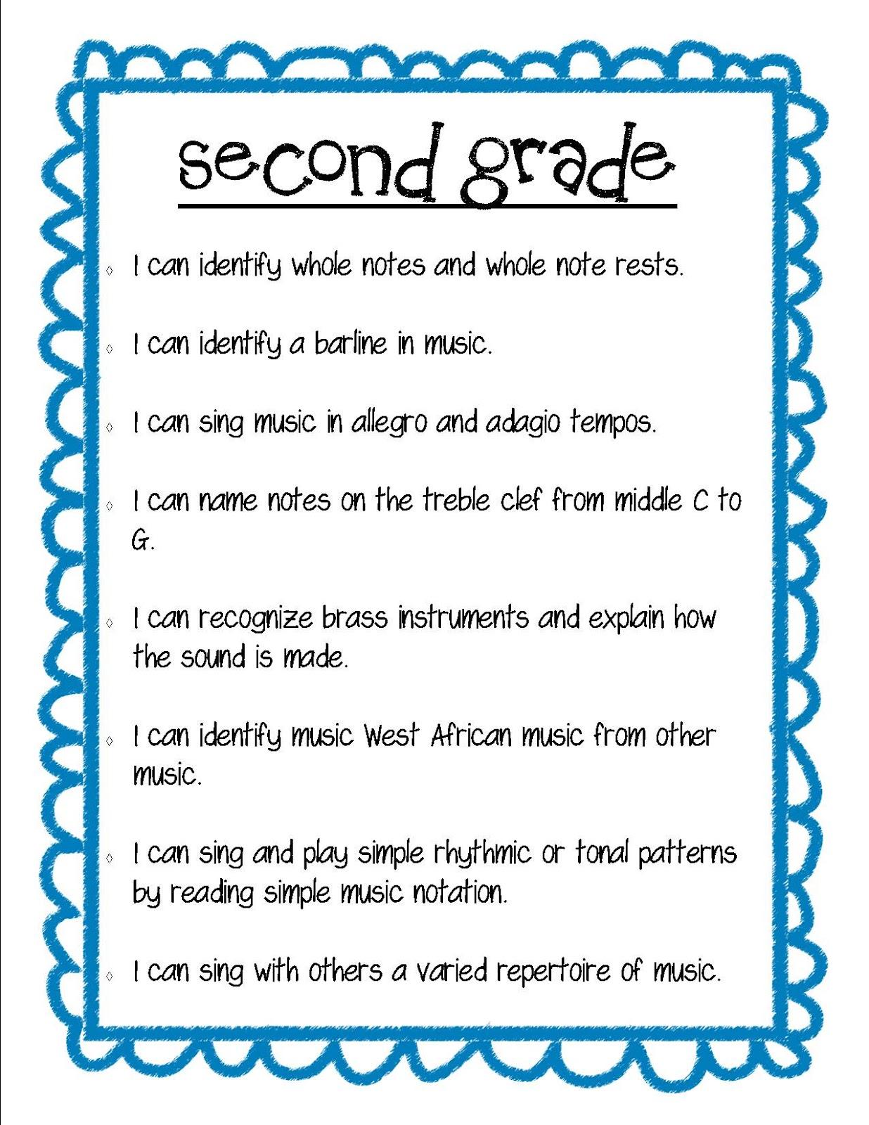 Second Grade Poems