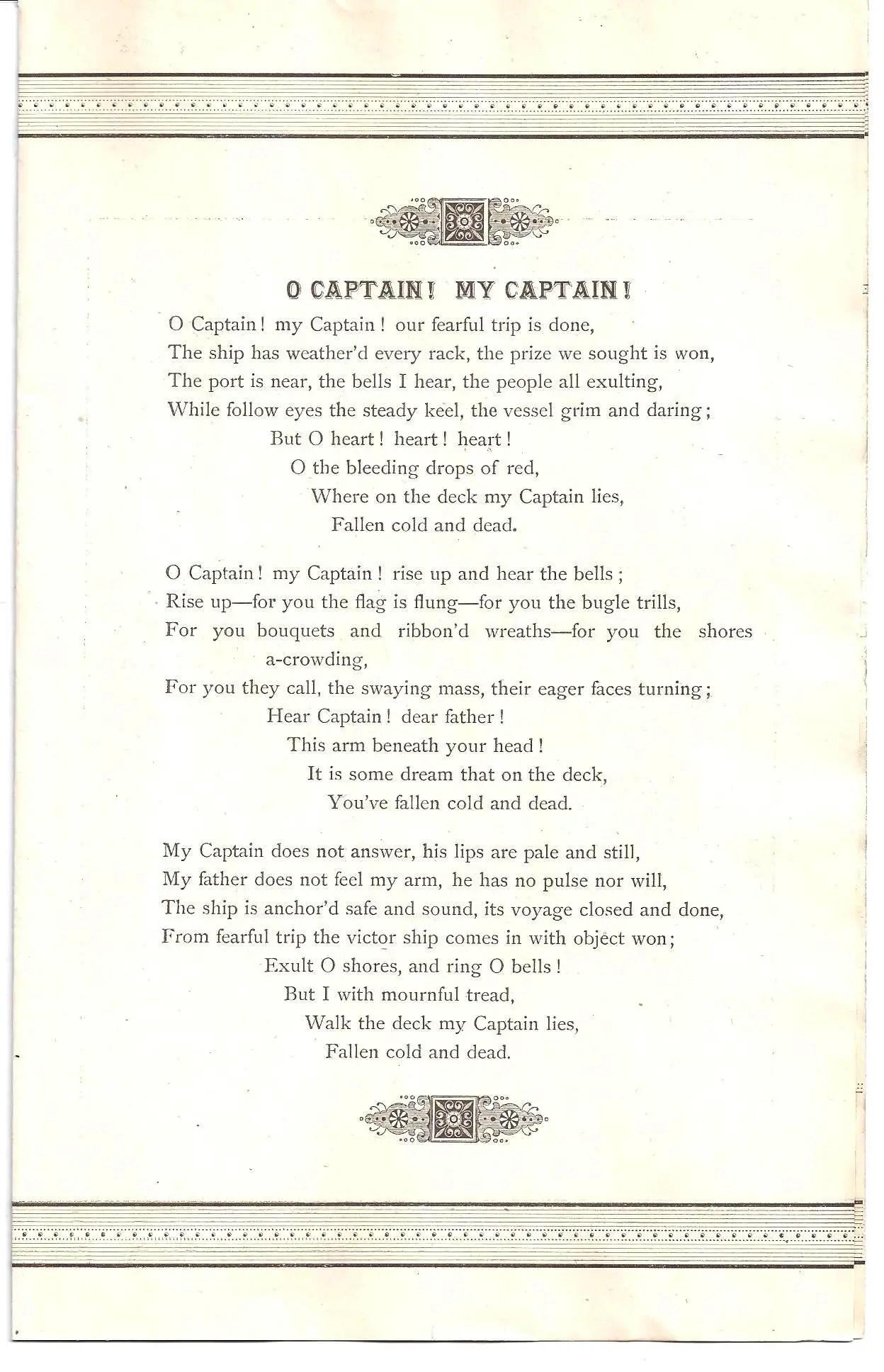 Captain Poems