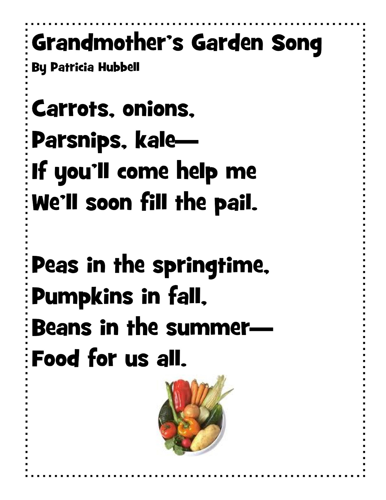 Vegetable Poems
