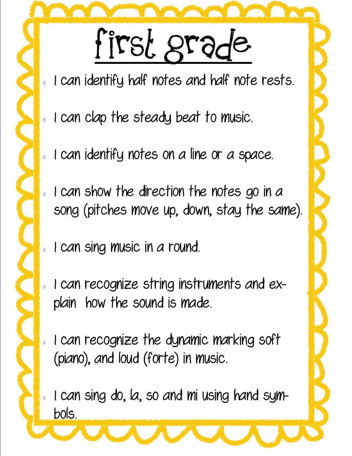 Grade One Poems