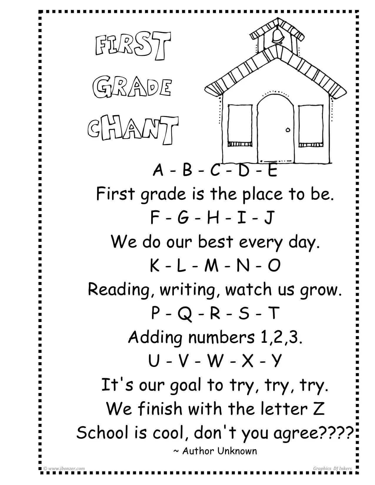 Grade One Poems