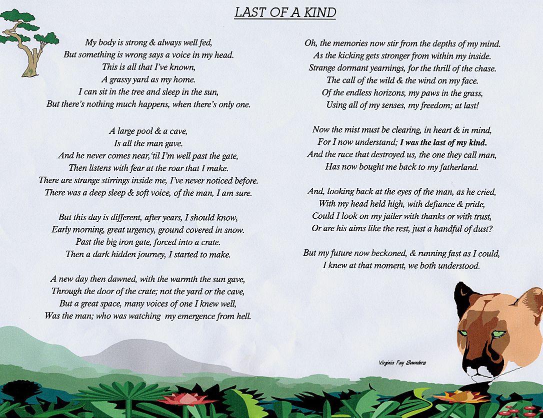 Endangered Animal Poems