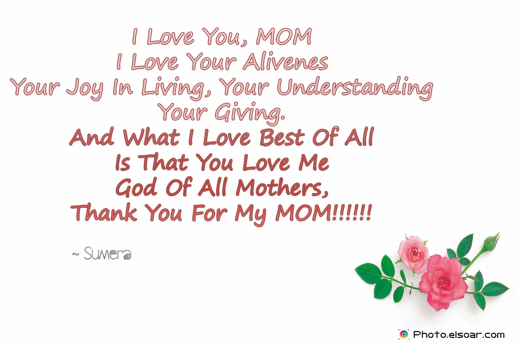 Love You Mom Poems