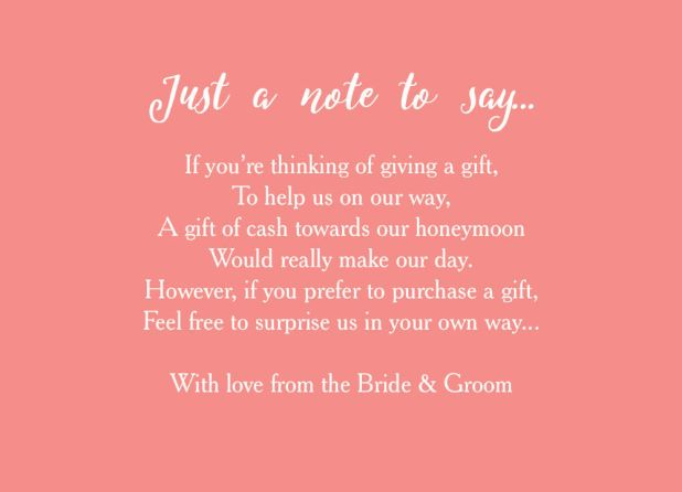What To Say When Giving Money As A Wedding Gift Giftsite
