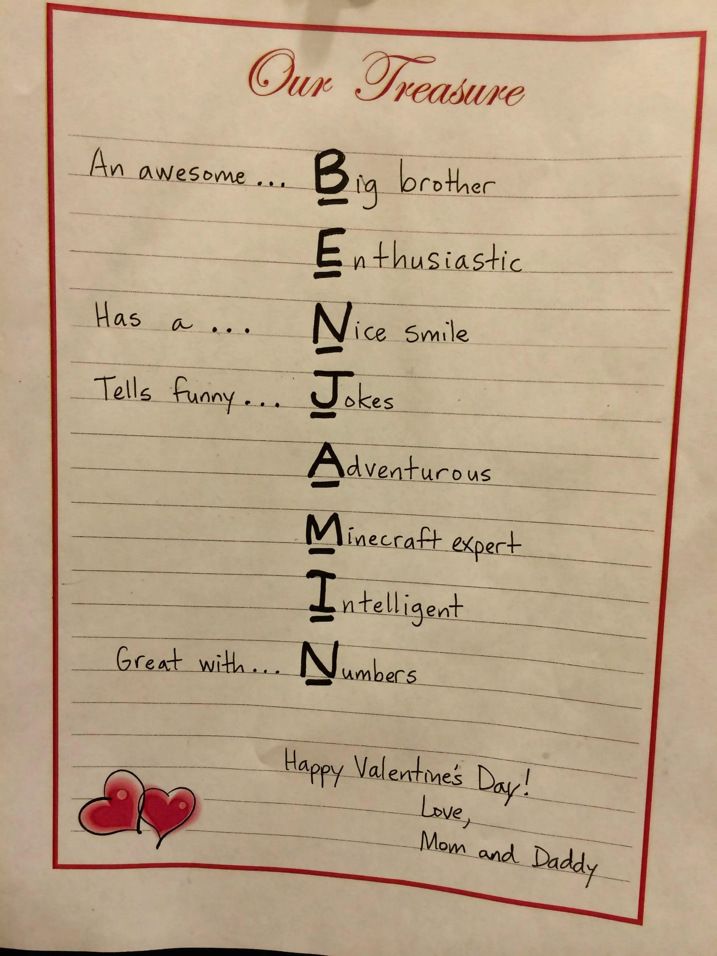 Valentine Acrostic Poems Poems