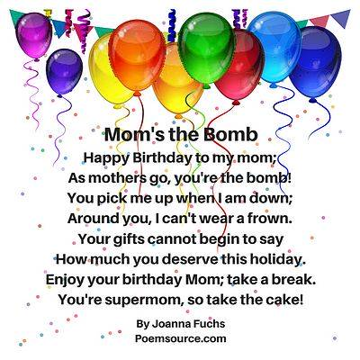 Mother Birthday Poems For Her Special Day