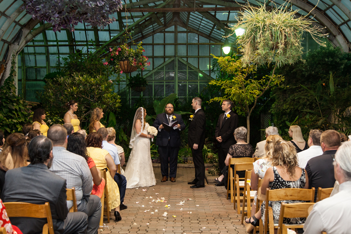 Wedding in the Lincoln Park Conservatory
