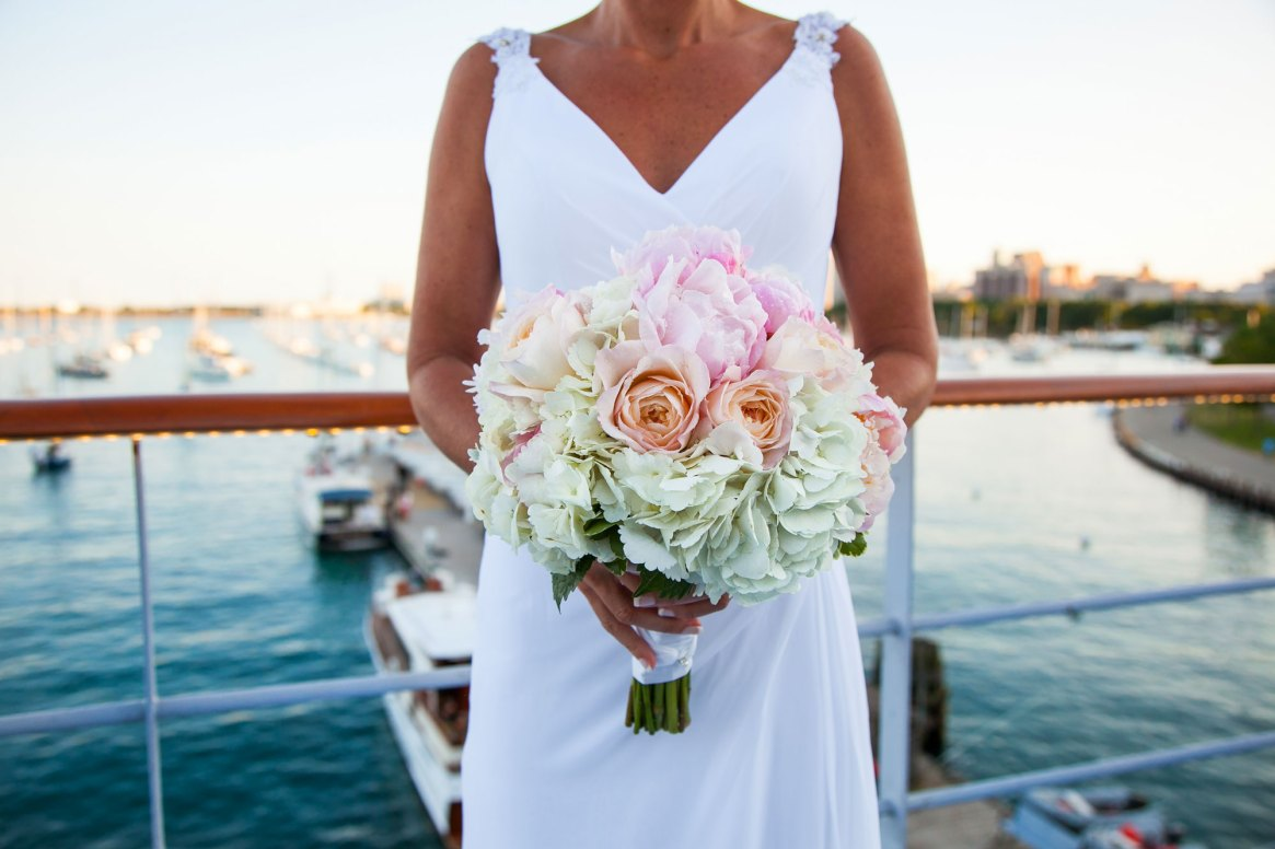Chicago Lake Michigan - Wedding Bouquet