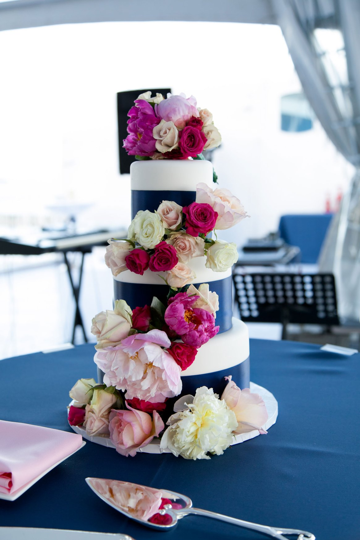 Chicago Floral Wedding Cake