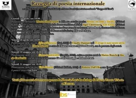 PROGRAMMA Rassegna Internazionale di Poesia
