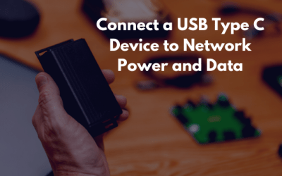 Connect USB Type C to Network Power and Data