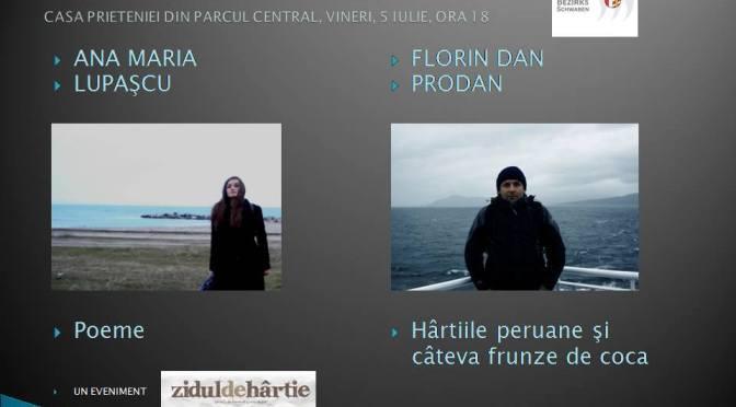 """Poeme si câteva frunze de coca printre hârtiile peruane la """"Zidul de hartie"""""""