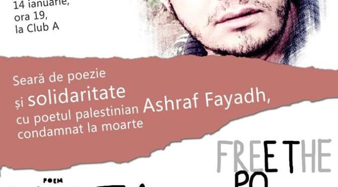 Solidaritate internațională pentru Ashraf Fayadh la Bucureşti