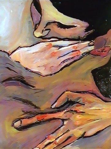 Natalie Dekel - Portrait After Egon Shiele, circa 1999